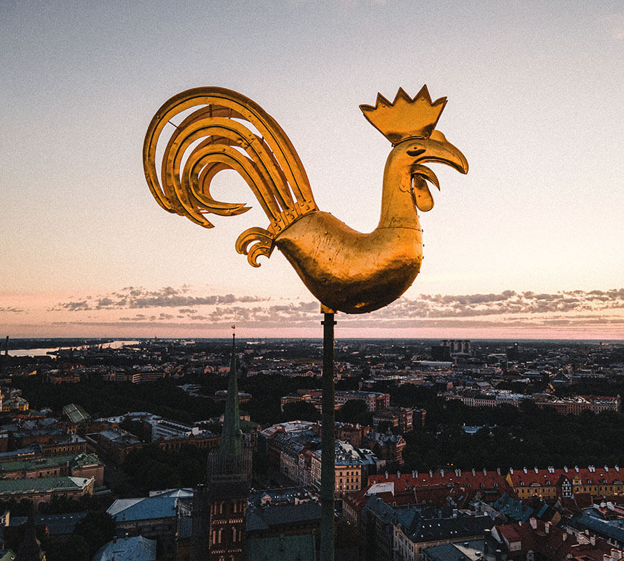 Golden rooster of Old Riga